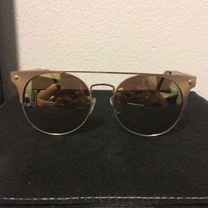 Gold Quay Sunglasses with Reflective Lenses
